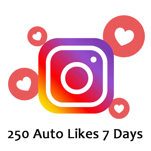 Buy 250 Automatic Instagram Likes 7 Days