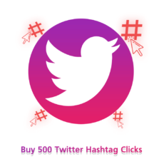 Buy 500 Twitter Hashtag Clicks