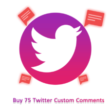 Buy 75 Twitter Custom Comments