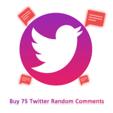 Buy 75 Twitter Random Comments